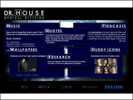 House minisite features page by DaggersDrawn