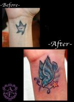 Star Cover-Up Tattoo done by Sean Ambrose by seanspoison