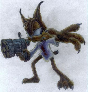 bubsy the bobcat????or....???? by DARKDOWDEVIL