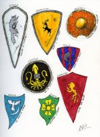 SOIAF Heraldry sketches by Tribemun