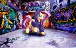 Hip Hop Fluttershy by Pacman552