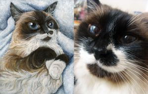 Cat Portrait Painting by sobeyondthis