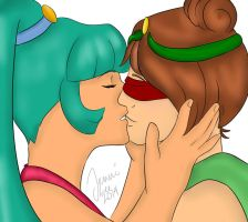 M25 And M34 .:First Kiss:. by Sunnibutt