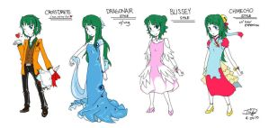 Sketches of Prom dresses by ThreeWayDart