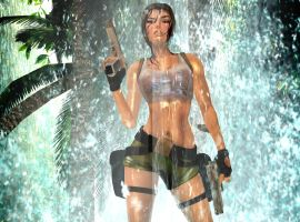 pacific coasts Lara Croft  heavy tropical rain II by 7ipper