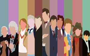 Doctor Who Minimalist 50th Anniversary Wallpaper by Araigen