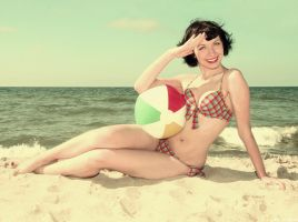 beach pin up by Jussia