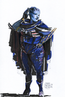 Curvy Asari by characterundefined