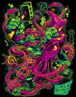 GORILLA VS. ARCHITEUTHIS shirt color by pop-monkey