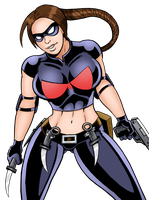 Widow Ready For Action by curtsibling
