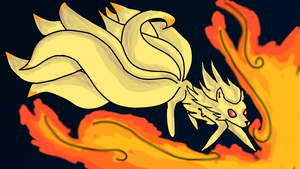 Ninetales Showing Off by GGproductions