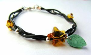 Kingdom Hearts Paopu Fruit Swarovski Bracelet by PaintIt13lack
