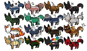 Adopts 10 - Open by hoodedscarlet