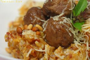 Pumpkin risotto meatballs 2 by patchow