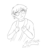 Paul with glasses (line art) by Mustique-91