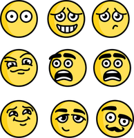 Yellowish Emotes by sulky-me