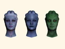 Mass Effect, Asari Head Reference. by Troodon80