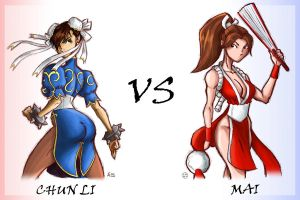 Chun Li vs Mai - Colors by thisisanton