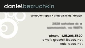 business card design by dbez
