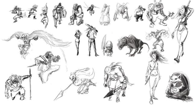 sketches by algof