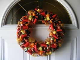 Fall Ribbon Wreath by bkell22