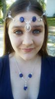 lapis lazuli, quartz crystal, natural ruby circlet by Wolf-Lady-bsparks85
