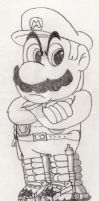 Mario is all business by LBDNytetrayn
