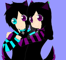 .::Twins::.Meegan and Skylar by MeeganUrufu