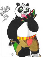 *KFP OC*:  Dragon Warrior Po by Armpit-Warrior
