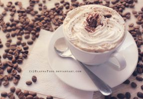 coffee with whipped cream by ElaynaTeos