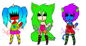 ||Adoptable Neon Monster Batch||[CLOSED] by Quarantined-Adopts