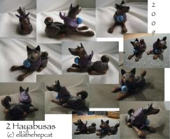 My Two Hayabusa Sculptures by ellathehepcat