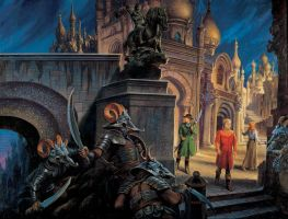 'The Fires of Heaven' cover by Darrell K. Sweet by ArcangHell