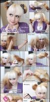 Double Bun Hair Tutorial by VioletLeBeaux