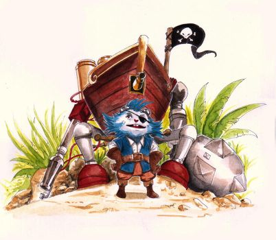 Pirate rumble by Amylrun