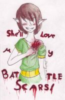 Shell Love My Battle Scars by LoftwingRider