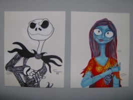 jack and sally by cuteart13