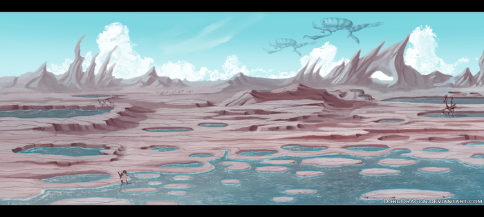Water craters by DoruDrutt