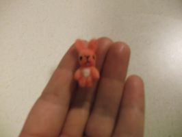Tiny needle felted pink bunny rabbit by imaginaryfriends2012