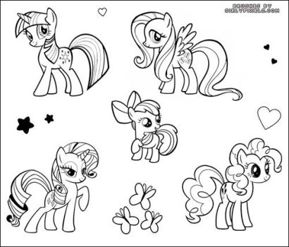 My Little Pony Brushes - 1 by girlypixels-com
