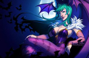 Morrigan Aensland by artofcarmen