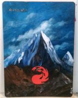 Magic the Gathering alter: Mountain 11/22/14 by Ondal-the-Fool
