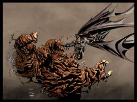 Clayface vs Batman colored by Dany-Morales