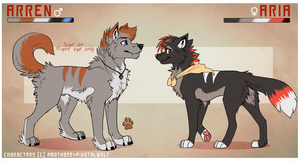 Arren+Aria refs by Citriel