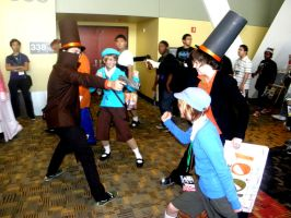 Professor Layton...with Guns by mugiwaraJM