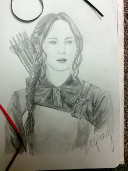 Sketch - Our Leader the Mockingjay by waspany