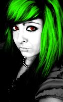 Green With Red Girl by Artifice1221