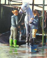 Green Boots and a Wash by artistwilder