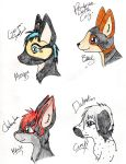 Dog breed headshot gifts by NiehHuskey