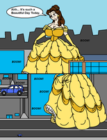 Belle Crushes A Car Page 1 by Omega-Speed